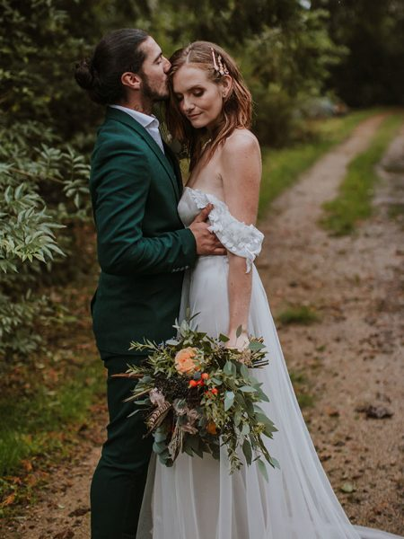 Embrace The Rain A Boho Wedding Captured In The Rain Featured On Festival Brides