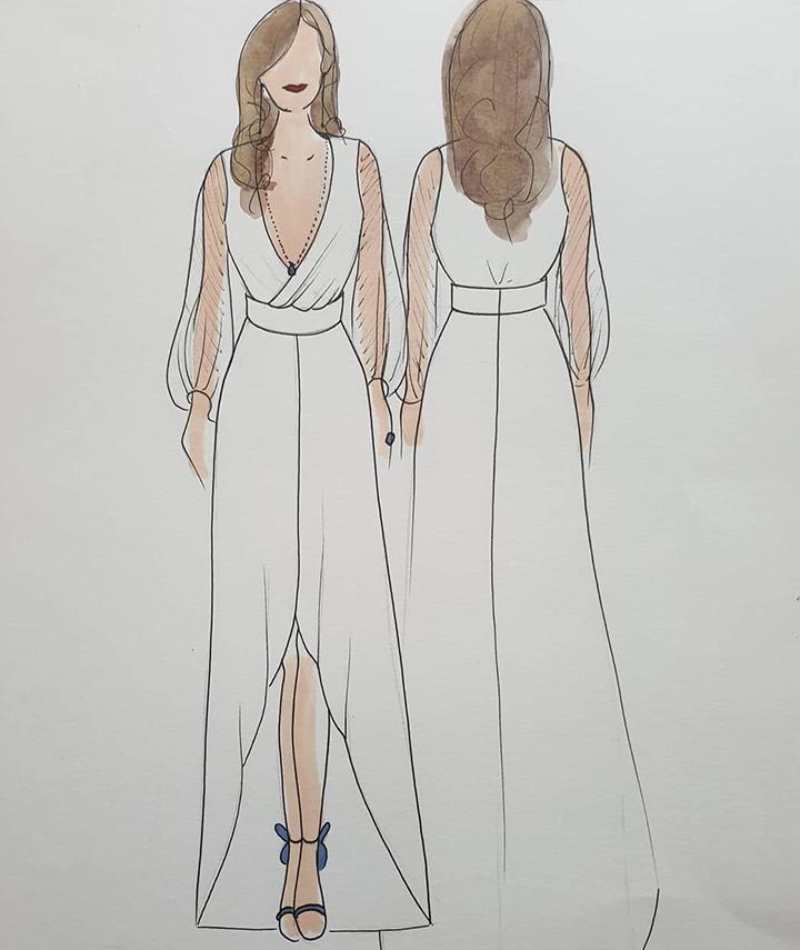Bespoke Sketch 29 Atelier Bridal Wear