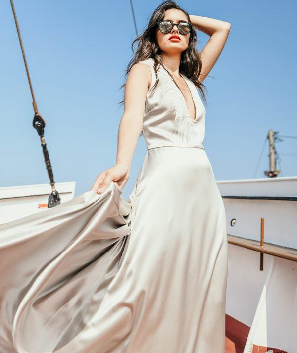 Bia Dress Oyster By 29 Atelier London Luxury Bridal Wear