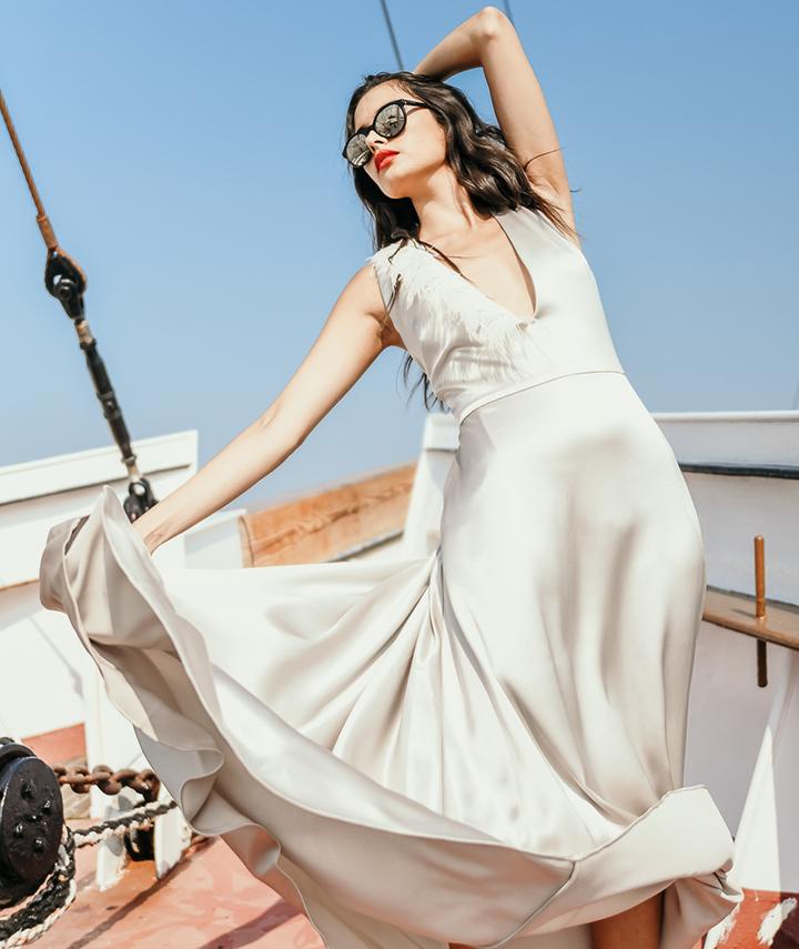 Bia Dress Side By 29 Atelier London Luxury Bridal Wear