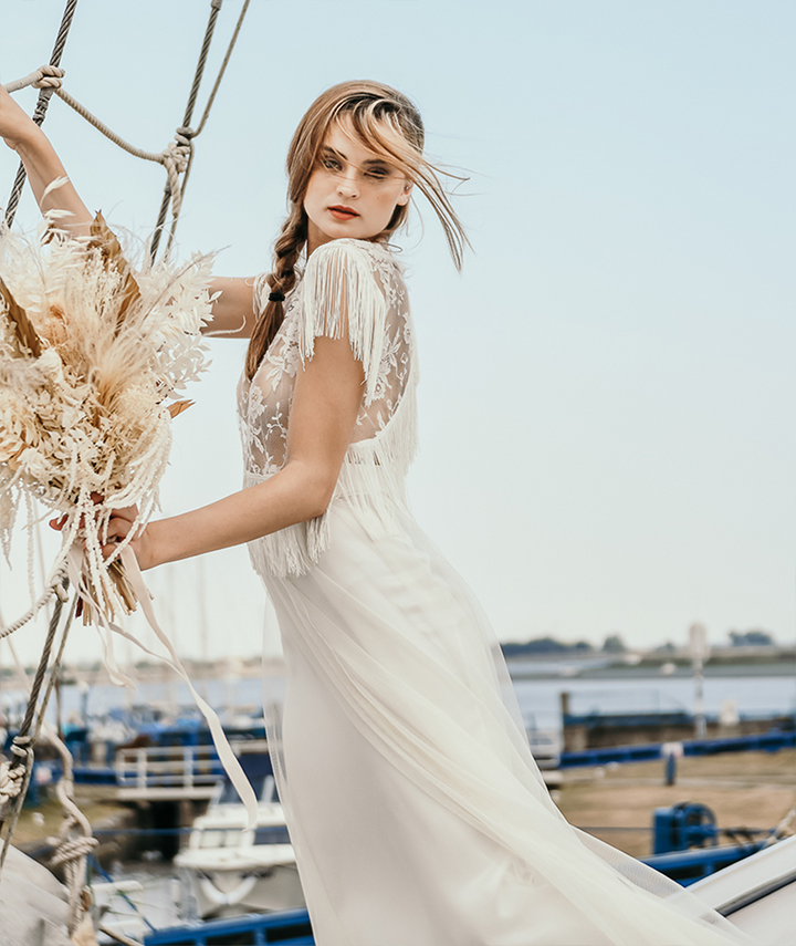Hebe Top With Fringe By 29 Atelier London Luxury Bridal Wear